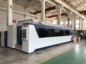 1500mmx3000mm Venta caliente y buen precio Máquina de corte por láser de fibra con fuente láser de 500W, 700W, 1000W