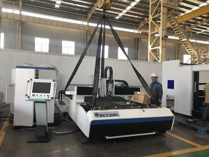 Máquina de corte de placa de fábrica de China + cortador láser de fibra intercambiable