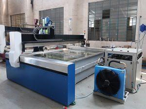 Pequeña máquina de corte por chorro de agua CNC, chorro de agua a alta presión: mármol, granito, vidrio, cerámica, metal