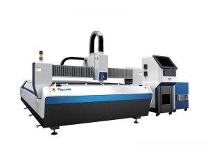 cortadora láser de fibra cortando materiales de cobre y aluminio